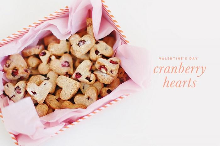 CRANBERRY HEARTS VALENTINE'S DAY DOG TREATS