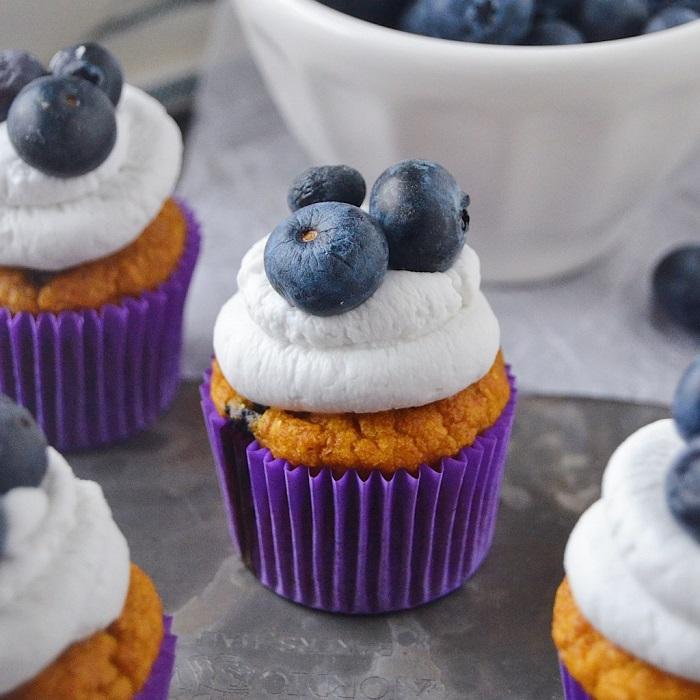 SWEET POTATO BLUEBERRY PUPCAKES