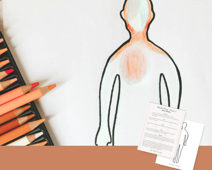 MINDFUL BODY SCAN ART THERAPY EXERCISE