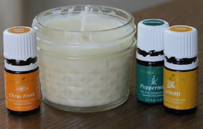 LEMON, PEPPERMINT, AND CITRUS ESSENTIAL OIL CANDLE