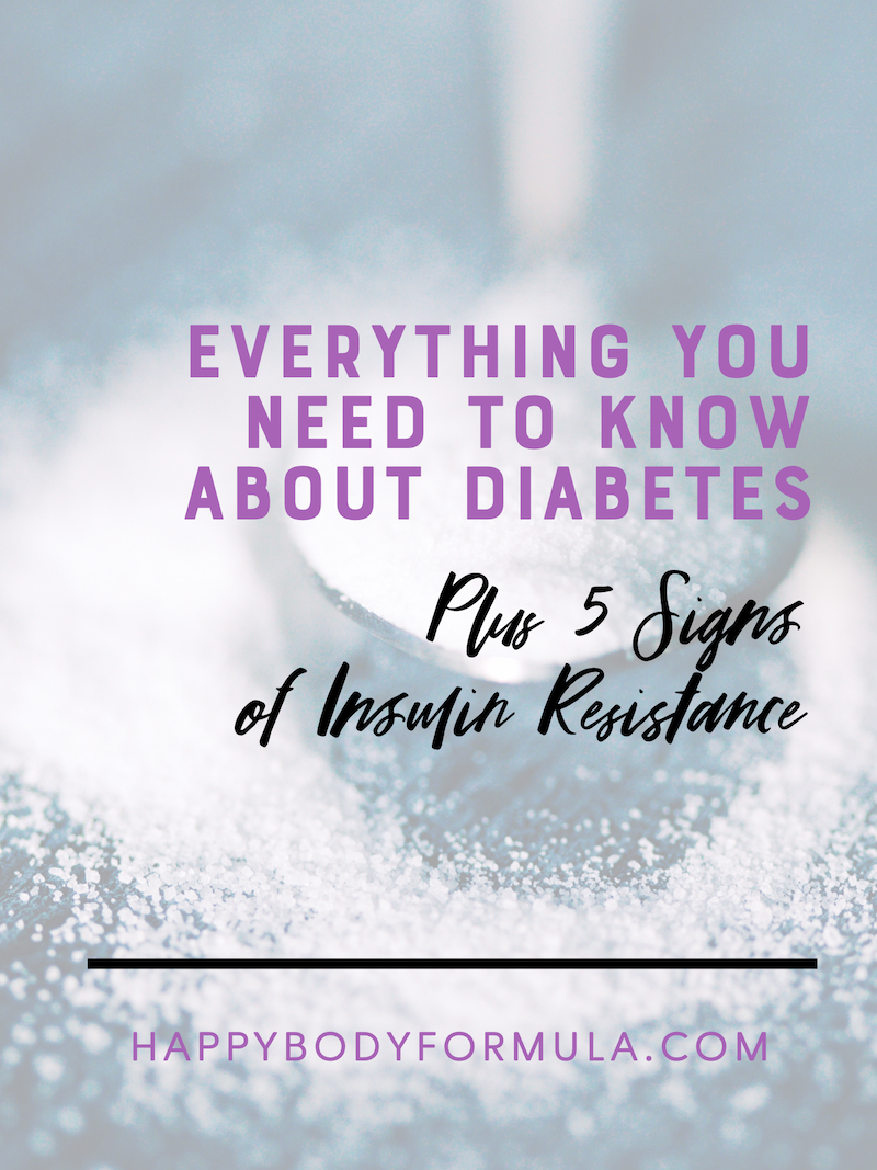 Everything You Need to Know About Diabetes | Happybodyformula.com